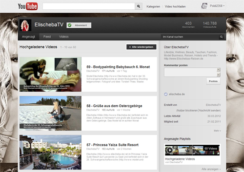 ElischebaTV bei YouTube