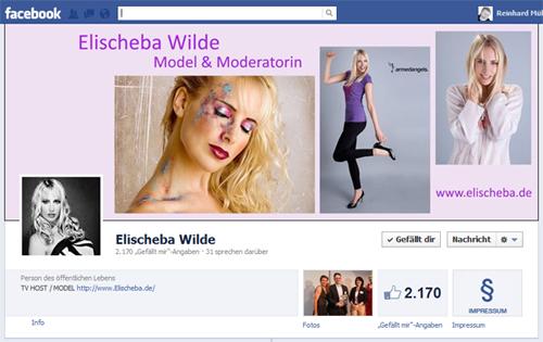 Elischebas Model Fanpage bei Facebook