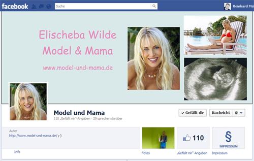 Model und Mama Fanpage bei Facebook