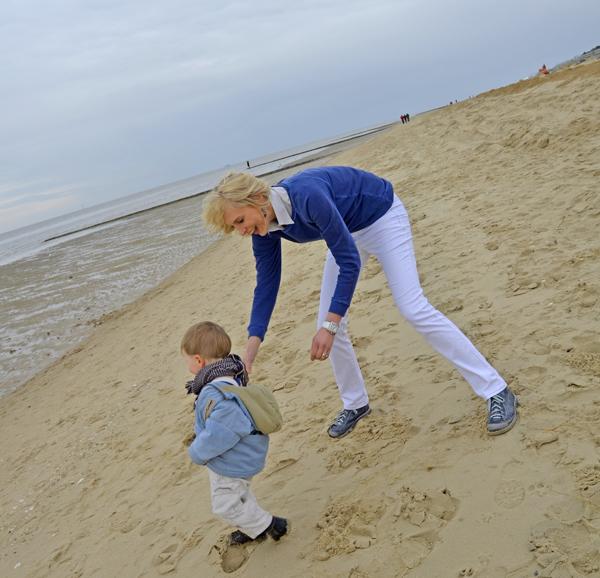 laufen am strand cuxhaven