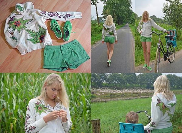 Fashion Collage gruen
