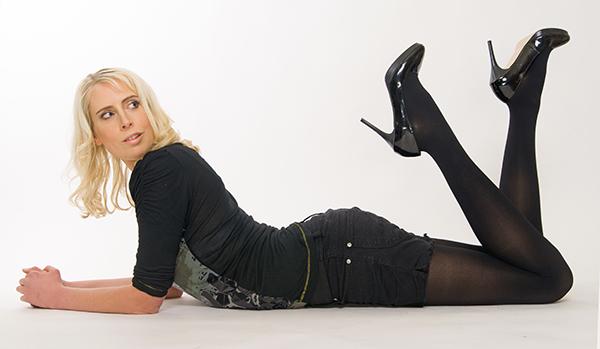black tights translucent