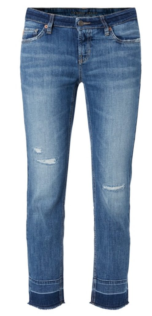 Cambio Ankle Cut Jeans im Destroyed Look in blau