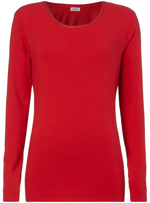 Liu Jo Jeans Longsleeve in Rot mit Glitter