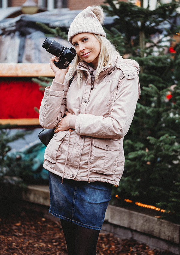 Fashion Shooting am Weihnachtsmarkt