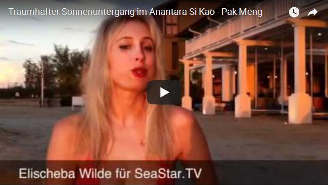 Traumhafter Sonnenuntergang im Anantara Si Kao - Pak Meng