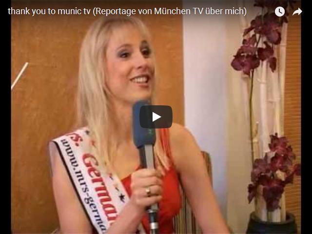 Elischeba als Mrs Germany bei Muenchen TV