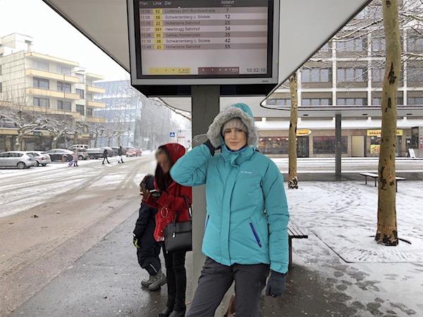 Bushaltestelle am Bahnhof in Dornbirn